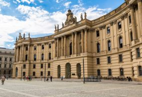 Humboldt University Berlin in summer day, Berlin, Germany